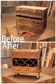 before and after images from hgtv u0027s flea market flip bar carts