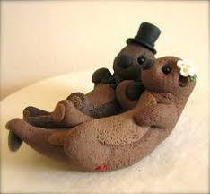 otter cake topper sea otters custom wedding cake topper custom wedding cake
