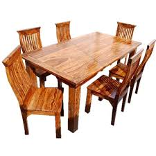 All Wood Kitchen Table by Solid Wood Dining Table U0026 Chair Set Furniture