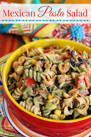 Mexican Pasta Salad Mama In The City Mexican Pasta Salad