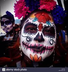 the eye of a catrina in mexico city the day of the dead