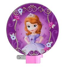 amazon disney princess sofia night light purple baby