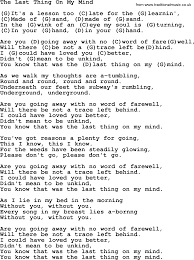 Feet To M The Last Thing On My Mind By Tom Paxton Lyrics And Chords