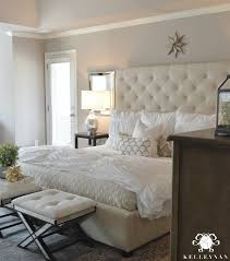 Pottery Barn Sugar Land Texas Master Bedroom Update Tufted Ottoman Ottoman Bench And Ottoman
