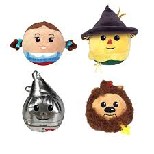 hallmark gifts fluffball wizard of oz set of 4 stuffed plush