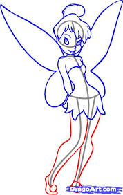 draw tinkerbell tinkerbell drawings drawing disney