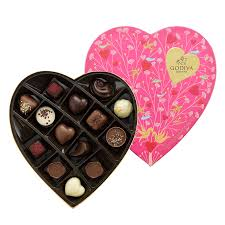 chocolate heart box godiva s heart shaped gift box 14 pc delivery in europe