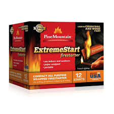 pine mountain extreme start wrapped fire starter 12 pack