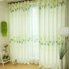 White Silk Curtains Funky Patterned Silk White Fiber Asian Style Curtains