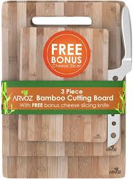 amazon com 3 piece bamboo cutting board set made from premium amazon com 3 piece bamboo cutting board set made from premium wood thick germ resistant anti microbial chopping board block serving tray bonus cheese