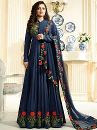 gown dress with price nitya drashti dhami gown style suit in blue at best price
