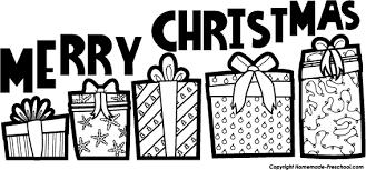christmas black and white christmas presents black and white