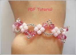 beading bracelet patterns images Beaded bracelet tutorial pattern pink wavy by darlovely on zibbet JPG