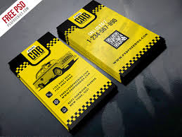 Free Graphics For Business Cards Free Psd Cab Taxi Services Business Card Template Free Psd