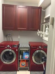laundry room how to hide pipes and what countertop to choose