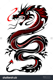 traditional dagger in dragon tattoo design