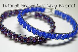bead wire bracelet images Tutorial beaded wire wrap bracelet jpg
