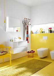 wall mounted washbasin unit bel by burgbad yellow colour