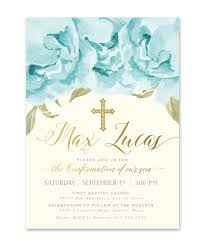 confirmation invitation henley boy confirmation invitation blue roses gold sea paper