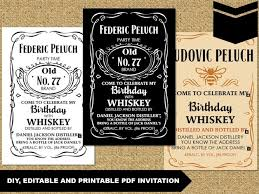 party invitations u2013 diy editable pdf invitation jack daniels u2013 a