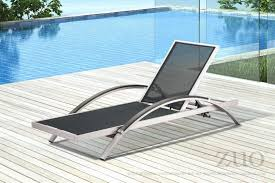 Zuo Outdoor Furniture by Zuo Outdoor Metropolitan Aluminum Faux Wood Mesh Chaise Lounge