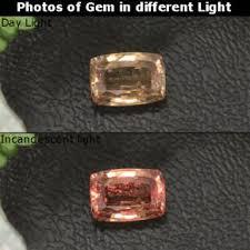 1 1 carat golden brown to orange color change garnet gem from