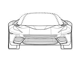 ferrari drawing new ferrari patents could be for one off custom laferrari sp