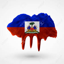 Use Flag Flag Of Haiti Painted Colors Blot With Paint Streaks With The