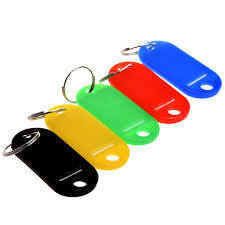 Key Cabinets 30xmulti Color Plastic Key Fobs Luggage Id Tags Labels Key Rings W