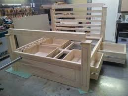 Woodworking Plans For Storage Beds by Best 25 Wooden Bed With Storage Ideas On Pinterest Wooden