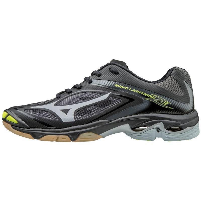 Mizuno Wave Lighting Z3 Black / Silver Yellow Ankle-High Volleyball Shoe 6.5M