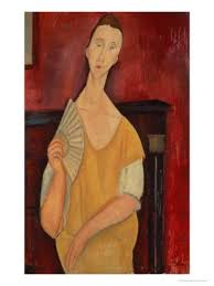 modigliani woman with a fan woman with a fan lunia czechowska 1919 giclee print by amedeo