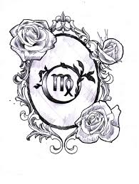virgo symbols signs tattoos virgo zodiac tattoo designs