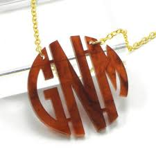 monogram necklace acrylic branandtabs on etsy on wanelo