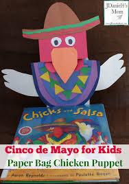 cinco de mayo for kids paper bag chicken puppet