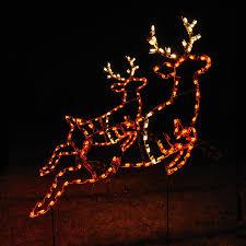 animated led reindeer pair light display 2 6 2 u0027 w
