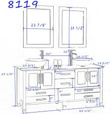 typical vanity height with vessel sink home vanity decoration