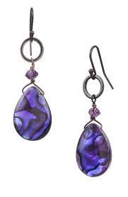 purple drop earrings purple abalone dangle drop earrings chandelier earrings