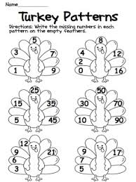 pattern thanksgiving worksheets u2013 festival collections