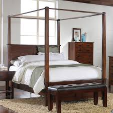 King Size Canopy Beds Carey Canopy Bed 6 Piece Bedroom Suite In Espresso Finish By Crown