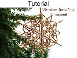 beaded snowflake ornament pdf beading pattern