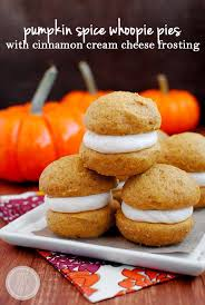 pumpkin spice whoopie pies with cinnamon cheese frosting