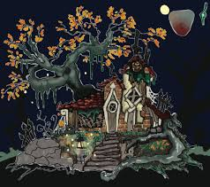 halloween textures wip stylized halloween town house u2014 polycount