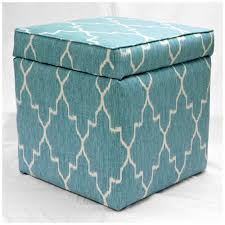 blue and white ottoman furniture dazzling blue storage ottoman for fascinating home