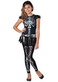 scary girl costumes kids skeleton bling tween scary costume 33 99 the