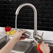 Ebay Kitchen Faucets Aquasource Garner Brushed Nickel 2 Handle Widespread Bathroom