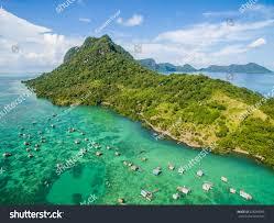 beautiful aerial view borneo sea gypsy stock photo 628290095