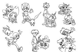 printable digimon coloring pages coloring