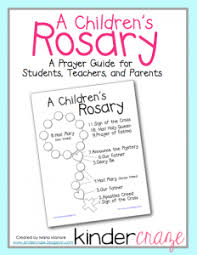 children s rosary teaching the rosary in an early childhood classroom freebie