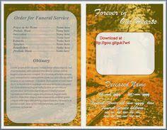 free funeral program templates funeral program template